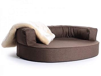 PadsForAll Cama para perros, perro Sofá Atlanta Softline poliéster marrón, resistente al agua