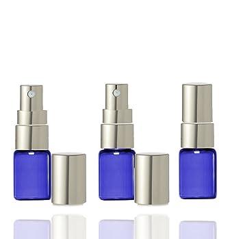Amazon.com: Grand Parfums Mini vidrio azul cobalto botellas ...