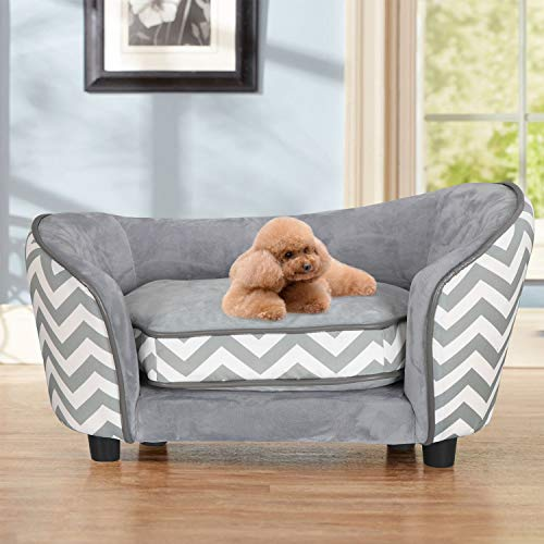 BBBuy Pet Bed Sofa Elevated Puppy Couch Sleeping Beds with Soft and Washable Cushion for Small Dog - Dog Large Bed Couch