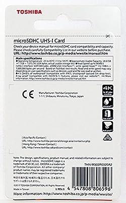 Amazon.com: Toshiba 32GB 32G EXCERIA M302 with SD Adapter ...