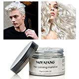 GARYOB Instant White Hair Wax Temporary Hairstyle Cream, Natural Long-lasting Professional Strong Hair Lacquers Gel Cream for Men and Women (4.23oz)