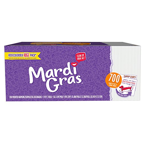 Mardi Gras Disposable Napkins, Printed Paper Napkins, 700 Count
