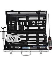 grilljoy 25pcs bbq tool set with aluminum case