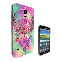002448 - Floral Shabby Chic Roses Dream Catcher Design Samsung Galaxy S5 / Galaxy S5 Neo Fashion Trend CASE Gel Rubber Silicone All Edges Protection Case Cover