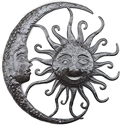 Amazon.com: it\'s cactus - metal art haiti Sun and Moon Celestial ...