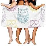 Colivy Luxury Bath Towels, Funny Cute Owls Animal Print, Super Soft Ultra Absorbent Bath Towel Beach Towels For Men, Bath Set Bathroom Accessories