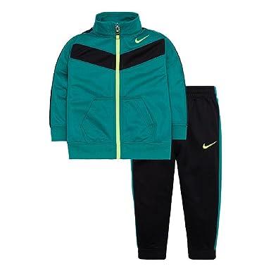 Amazon.com  Nike Baby Boys Tricot Tracksuit - Black Rio Teal (24 ... 0986907eb