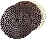DAMO Diamond Polishing Pads 3 Step Dry Wet Granite Polishing Pads Set of 3 PCS for Granite Polish Concrete Polisher