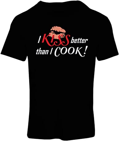 Kiss The Cook Novelty Funny Ladies Gift T-shirt Size S-XXL
