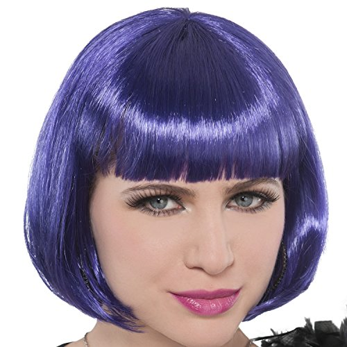 - Purple Glamour Bob Wig