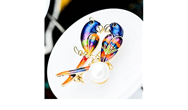 Amazon.com : High-end handmade accessories pearl brooch love ...
