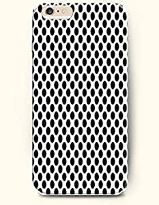 Black Circular Dots In White Background - Polka Dot Series - Phone Cover for Apple iPhone 6 Plus ( 5.5 inches ) - OOFIT Authentic iPhone Case