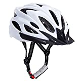 Bormart Adult Cycling Bike Helmet,Lightweight Adjustable Bicycle Helmet Specialized for Men Women Mountain Bicycle Road Safety Protection (white) Review
