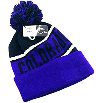 new concept 77348 5a08c Legend of the Game Colorado Top Pro New Beanie Cuffed Pom Rockies Colors  Black Purple Era Hat Knit Cap