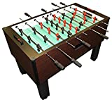 Gold Standard Home Pro Mahogany Foosball - Stainless Steel & Black