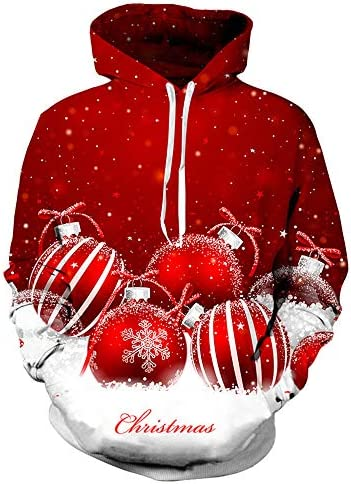Morton PegfawS Weihnachtskostüm, Paar Kapuzenpullover, 3D Gedruckt Langarm-Pullover