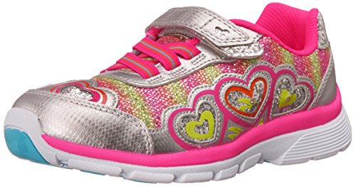 Stride Rite Joy Sneaker (Toddler/Little Kid),Silver/Pink,1.5 M US Little Kid (Shoes Stride Tennis Rite)