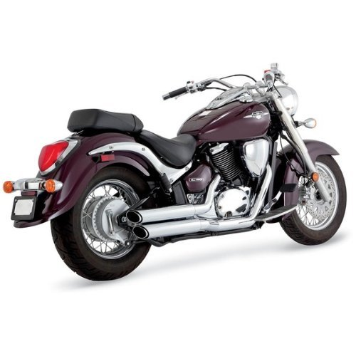 M50 Exhaust System (Vance And Hines Twin Slash Staggered Exhaust System For Suzuki VL800 Boulevard C50/M50 2005-2009 - 18293)