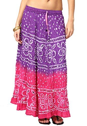 Mujer Purple Falda Soundarya Para Pink Ewq8WxgU0