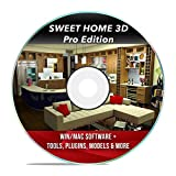 Software : Sweet Home 3D Interior Design House Architect Designer Suite Software PRO w/ 3D Models, Plugins, Tools & Tutorials - Chief CAD Program for Windows PC & Mac 2018