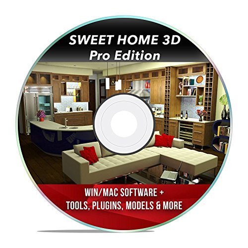 Sweet Home 3D Interior Design House Architect Designer Suite Software PRO w/ 3D Models, Plugins, Tools & Tutorials - Chief CAD Program for Windows PC & Mac - Software Pc Tools