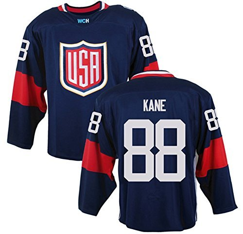 2016 World Cup Men's USA #88 Patrick Kane Navy Ice Hockey Jersey