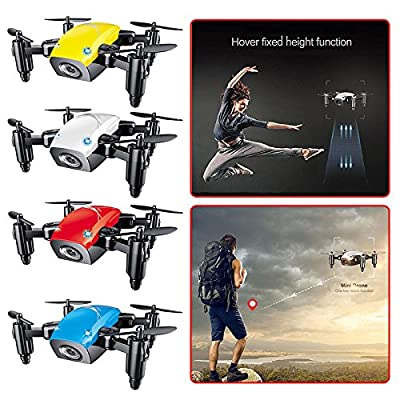 Cewaal S9 Mini Foldable Pocket Drone With Camera Live Video,Altitude Hold Headless Mode One Key Return Fun Toy Gifts by Cewaal