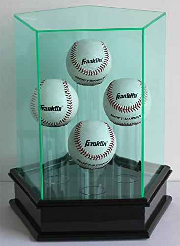 4 Baseball or Tennis Ball Display Case Holder Showcase-98% UV Protection Acrylic-AC-TB203 (Four Display Baseball Case)