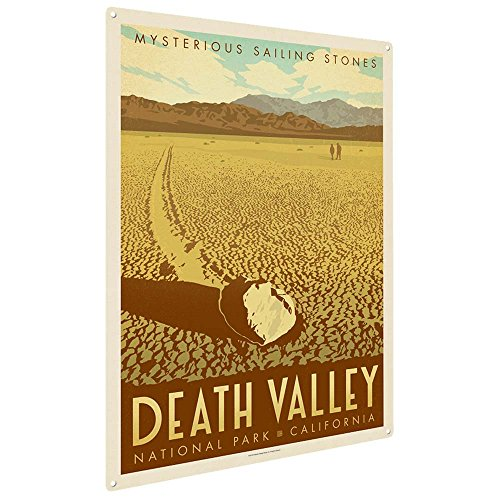 Anderson Design Group Death Valley National Park 9'x12' Metal Art Print, Home Decor for Office, Nursery, Patio, Garage, Cabin, or Vacation Home