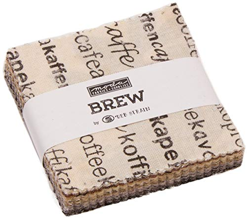Brew Mini Charm Pack by Deb Strain ; 42-2.5 Inch Precut Fabric Quilt - Fabric Mini Quilt