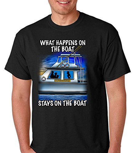 What happens on the boat party funny premium softstyle men's short sleeve tshirt (Xlarge, (Gay Halloween Party Seattle)