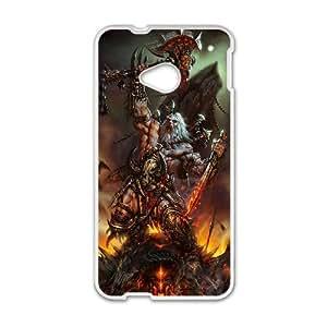 Diablo HTC One M7 Cell Phone Case White yyfabc-494568