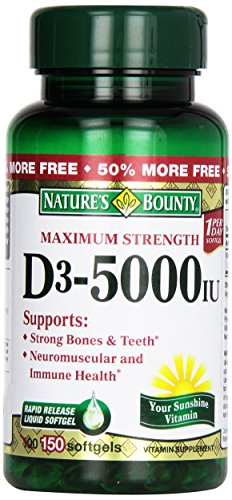 Natures Bounty 5000 Softgels 100