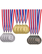 12 Pieces Gold Silver Bronze Award Medals-SHINGO Winner Medals Gold Silver Bronze Prizes for Competitions, Party,Olympic Style, 2 Inches