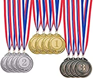 12 Pieces Gold Silver Bronze Award Medals-SHINGO Winner Medals Gold Silver Bronze Prizes for Competitions, Par