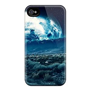 4/4s Scratch-proof Protection Case Cover For Iphone/ Hot Grapich Earth Phone Case