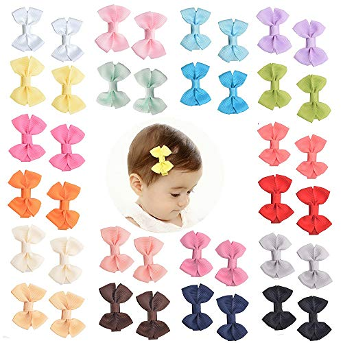 Prohouse Tiny Baby Hair Clips Boutique Hair Bow Clip Barrettes for Baby Girls Toddlers Kids …
