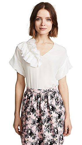 Blusa Seta White Moschino In Boutique A0219 AU1TWaqxnn