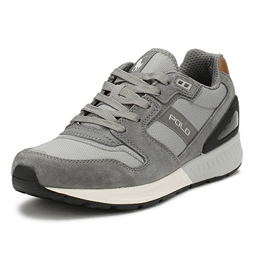 Ralph 004 Lauren 669842 809 Baskets TRAIN200 Grey RqrCxnRwO