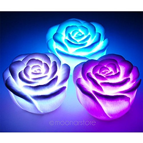 Led Color Changing Rose Shaped Light in US - 5