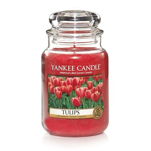 Yankee Candle Tulips Large Jar Candle, Floral Scent - Floral Jar Candle