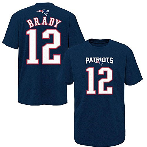 Nfl Youth 8 20 Performance Mainliner Team Color Player Name And Number T Shirt  Small 8  Tom Brady