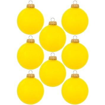 Christbaumkugeln Gelb.Unbekannt Christbaumkugeln Aus Glas 7 Cm Christbaumschmuck