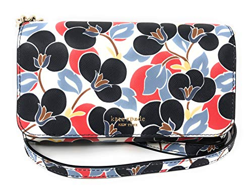 Kate Spade New York Camron Small Flap Leather Crossbody Bag in Breezy Flower Multicoloured