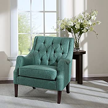 This Item Qwen Button Tufted Chair Teal See Below
