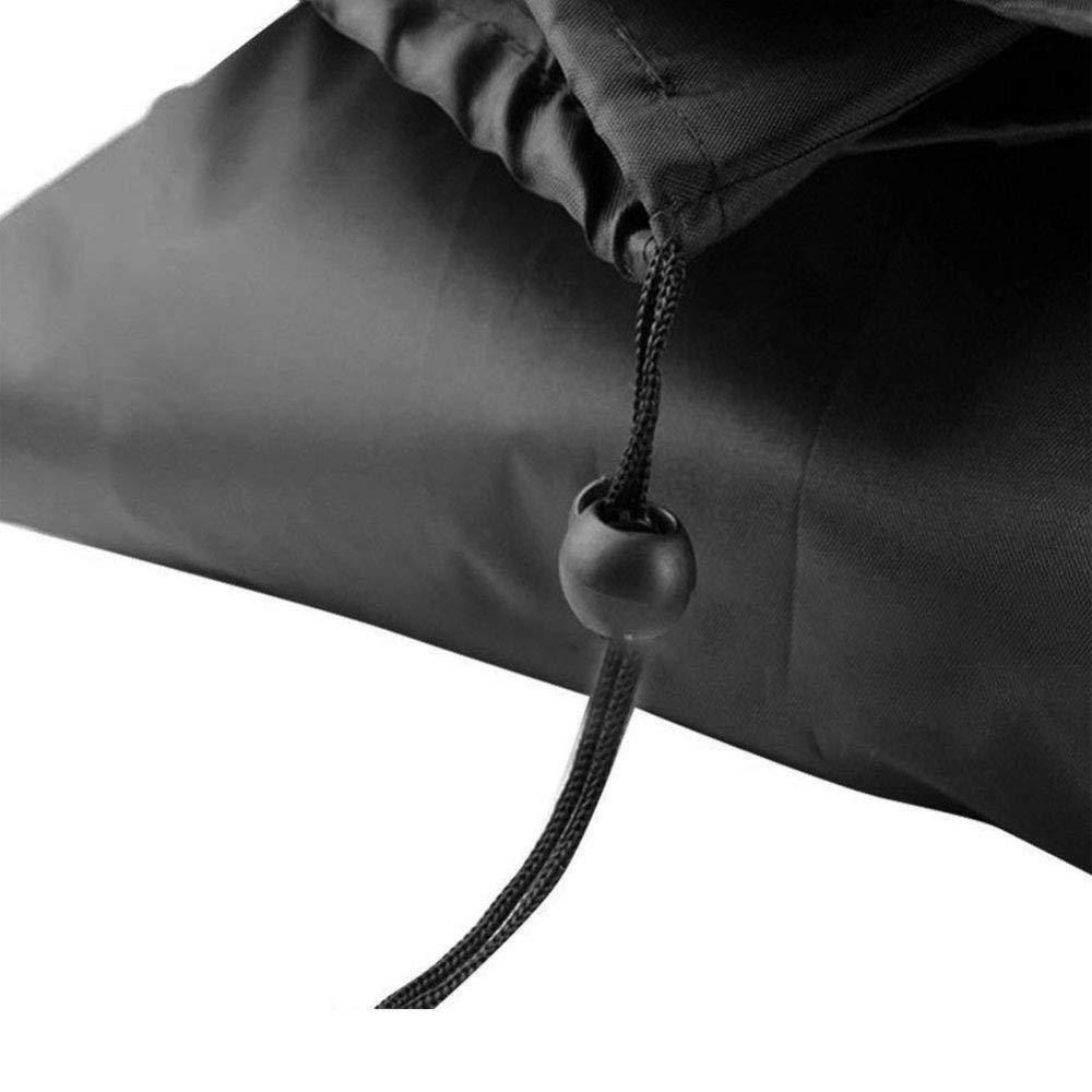 WCCCW Copertura Tavolo da Giardino Tavolo Tondo per mobili e Sedia Copertura Antipolvere Parasole impermeabile-128x71cm