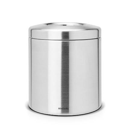 Brabantia 297960 - Cubo de Basura para encimeras de Acero Inoxidable, Color Gris Metalizado