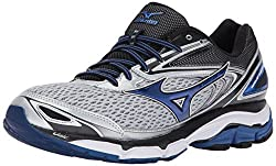Mizuno Men's Wave Inspire 13 Running-shoes, Silvertrue Blueblack, 10.5 D Us