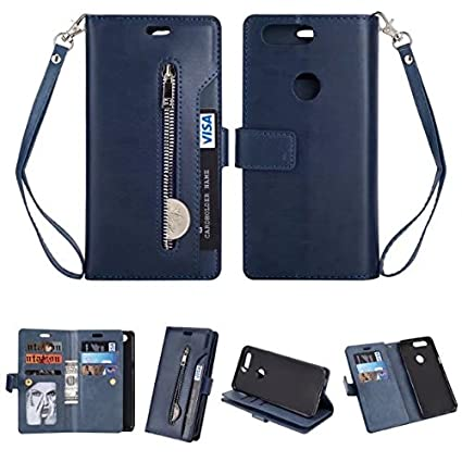 new arrival 03007 1b7ac Amazon.com: Aipyy OnePlus 5T Case, [9 Credit Card Holder] Luxury PU ...