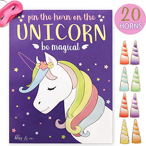 (Pin the Horn on the Unicorn Party Game | Kids, Games, Supplies, Decor, Decorations, Gifts, and Favors for Little Girls Birthday | Large 21